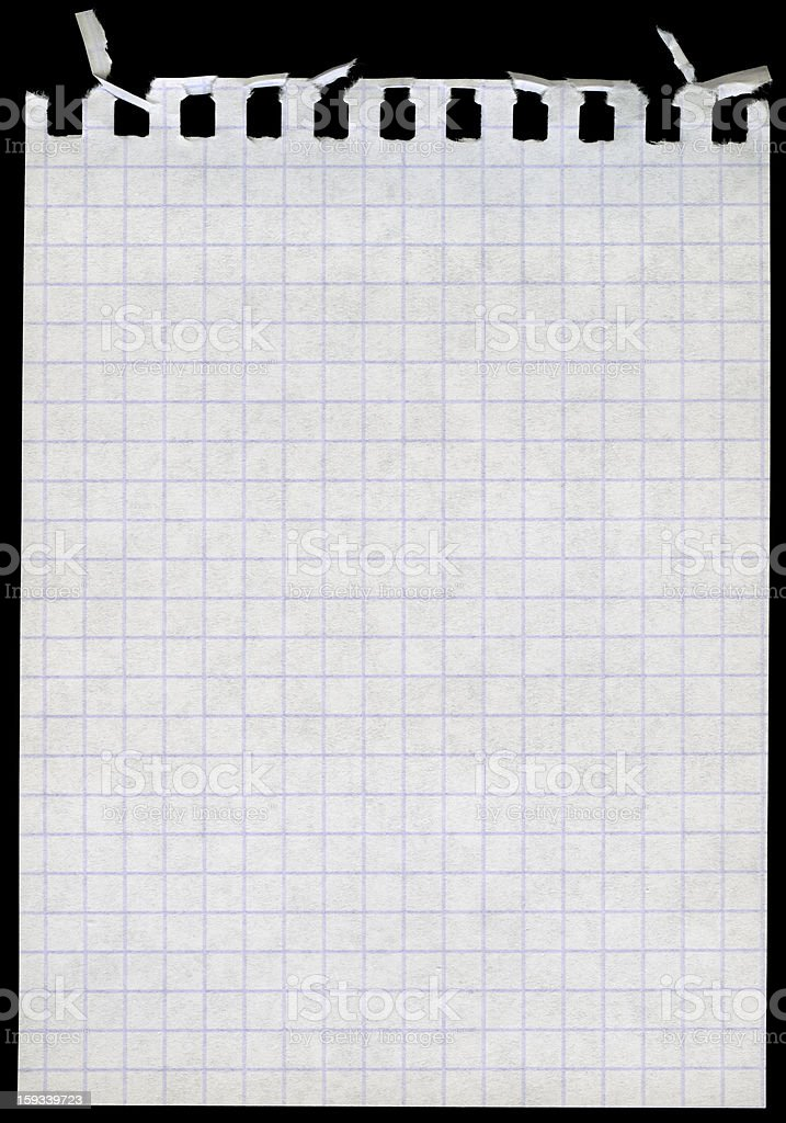 Blank notepad page royalty-free stock photo