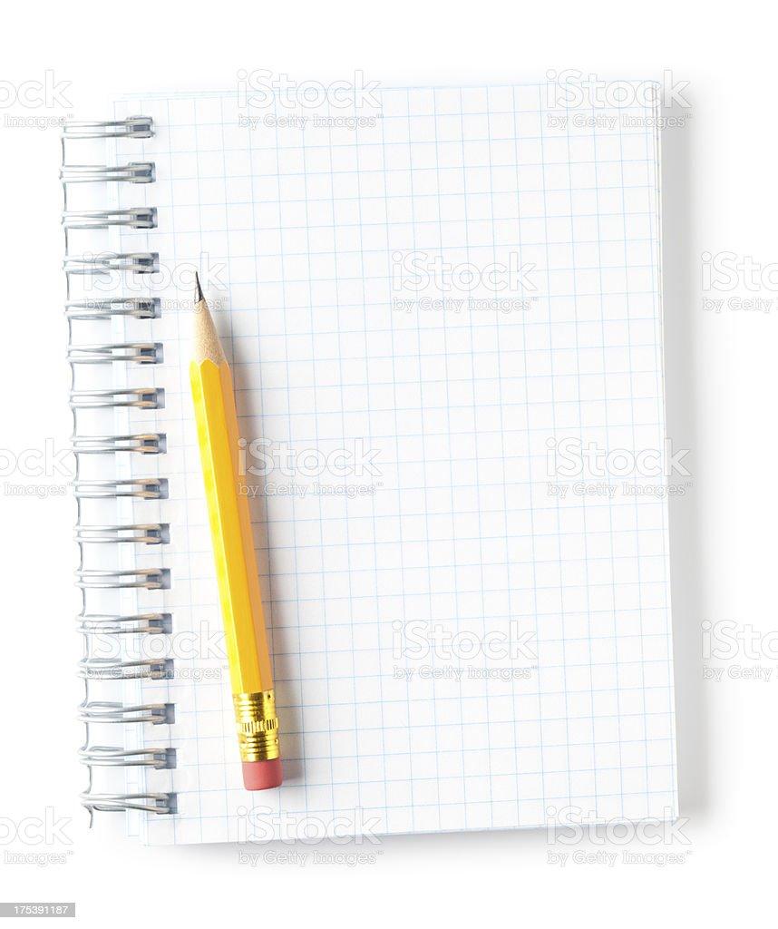 Blank notepad stock photo