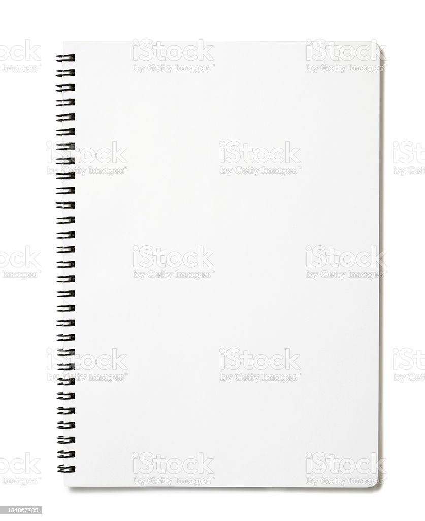 Blank notepad stock photo