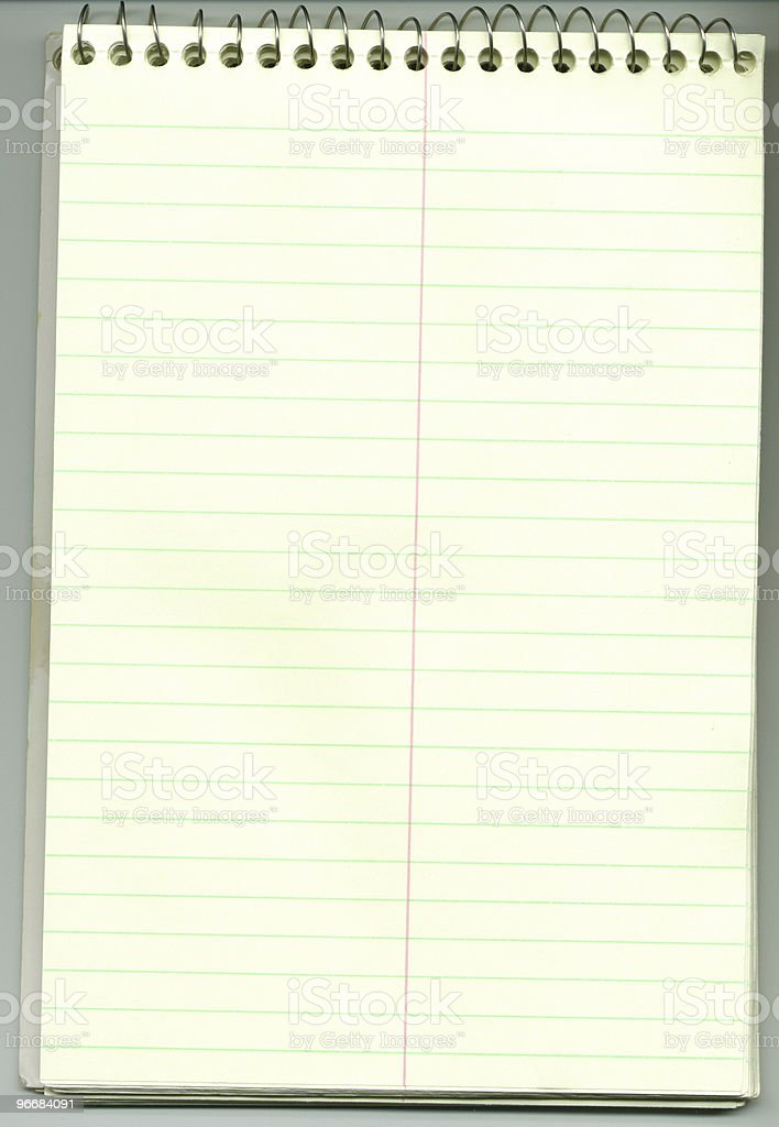 Blank Notepad, Stenographers royalty-free stock photo