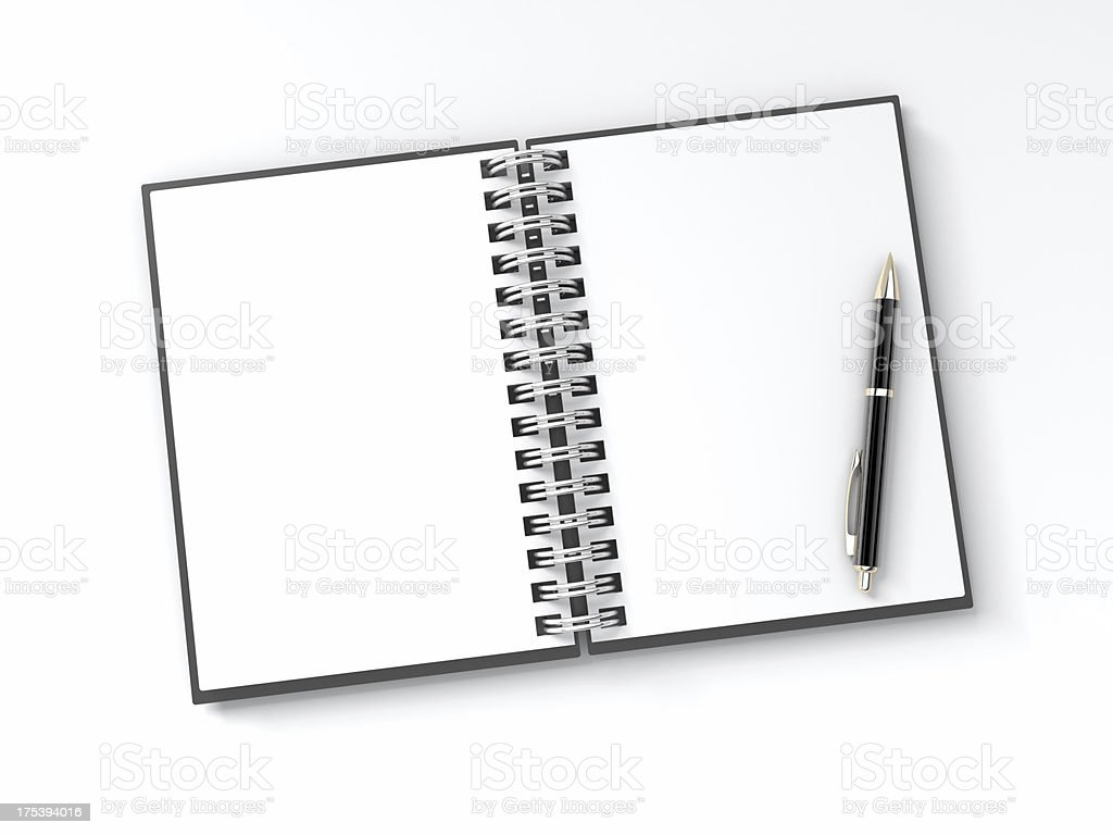 Blank Notepad with Pen royalty-free stock photo