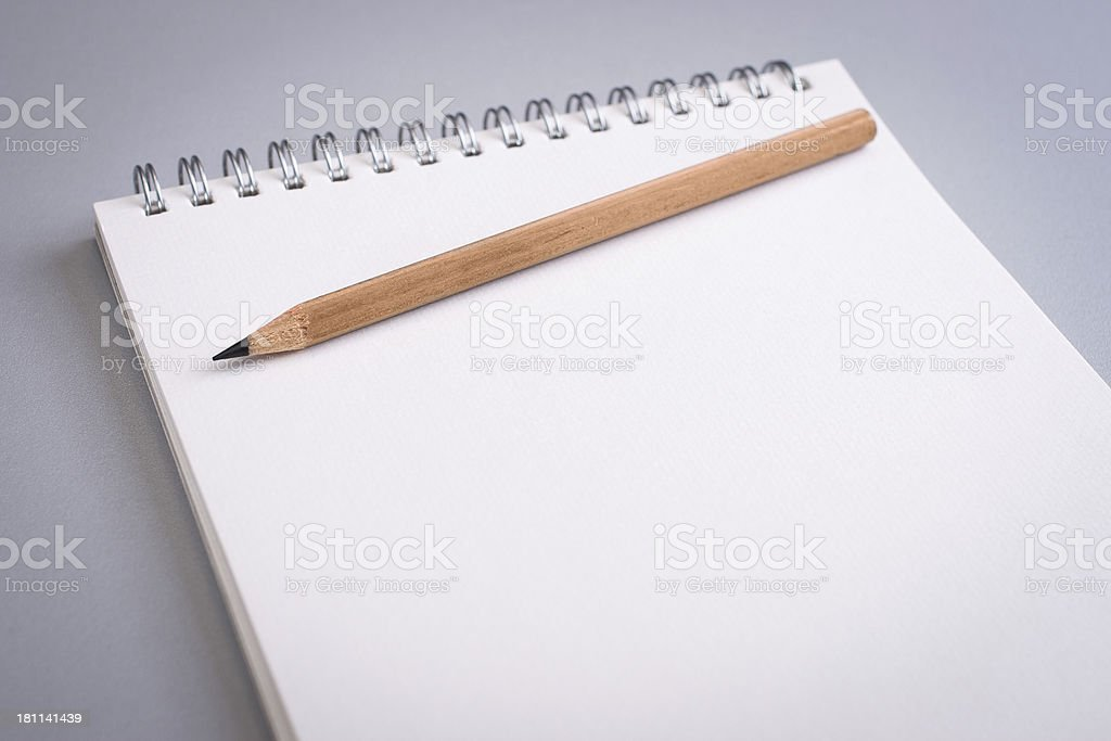 Blank notepad with pencile royalty-free stock photo