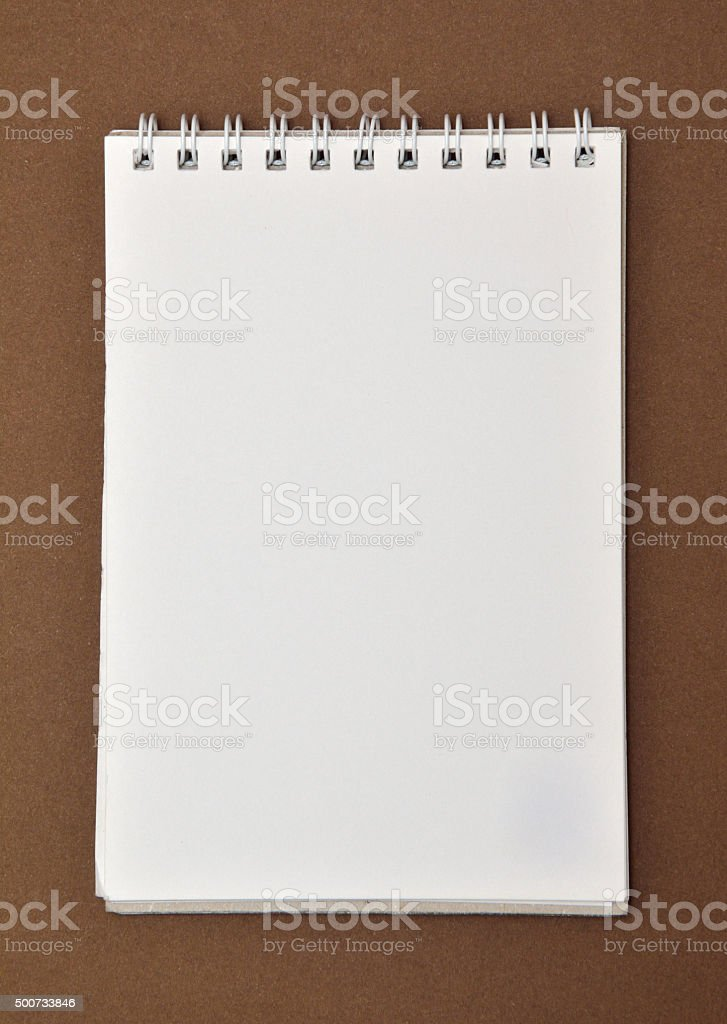 Blank notepad with spiral bound stock photo
