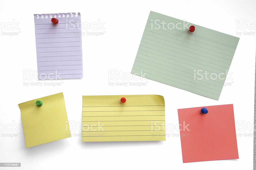 Blank notes isolated royalty-free stock photo