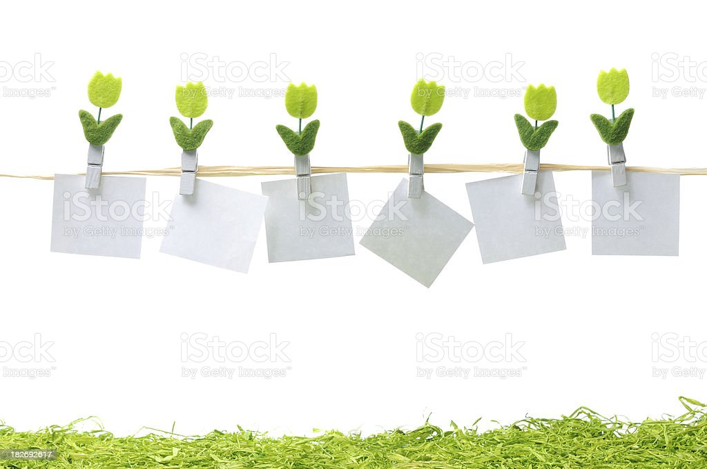 Blank Notes with Clothesline royalty-free stock photo