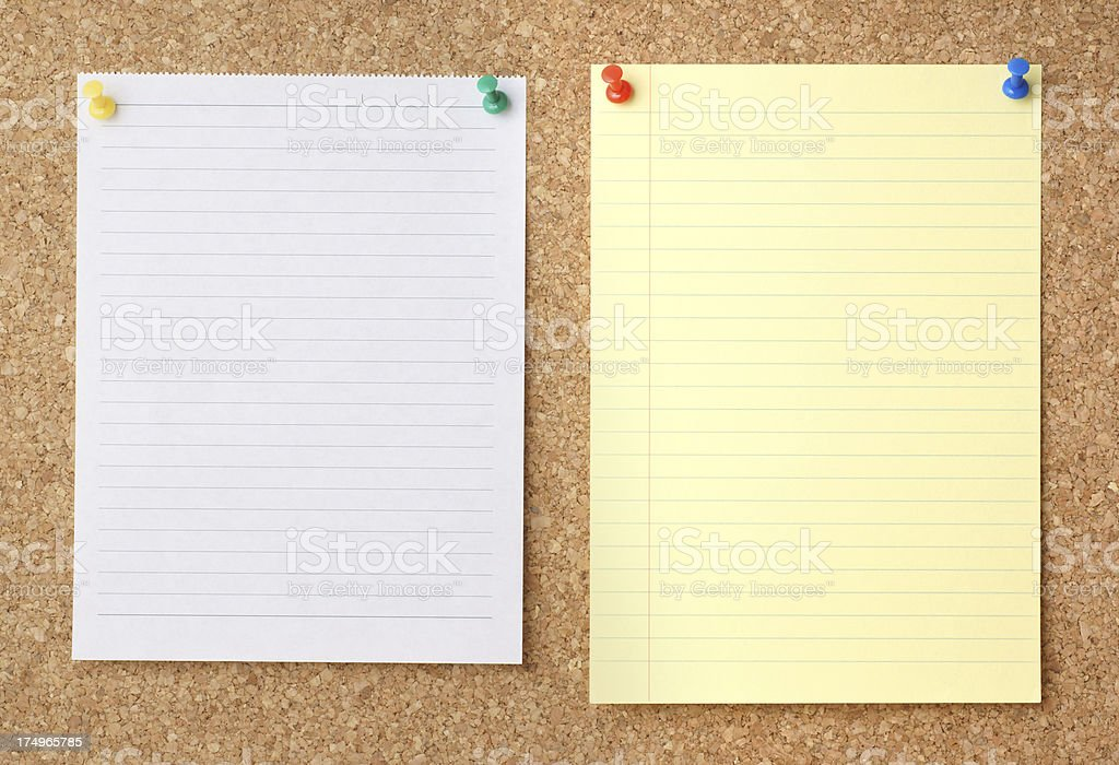 Blank notes with Cork Message Board royalty-free stock photo