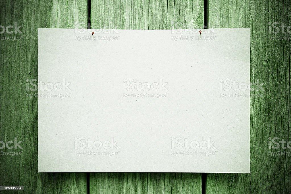 Blank Notice royalty-free stock photo