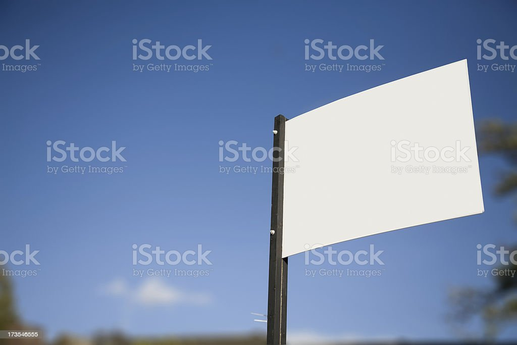 Blank Noticeboard for your Own Message-More in lightbox below royalty-free stock photo