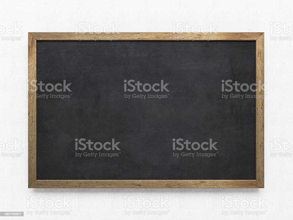 Blank old blackboard stock photo