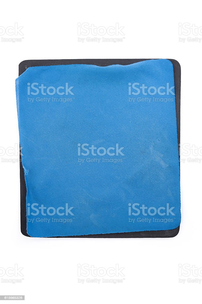 Blank Old Blue mouse pad stock photo