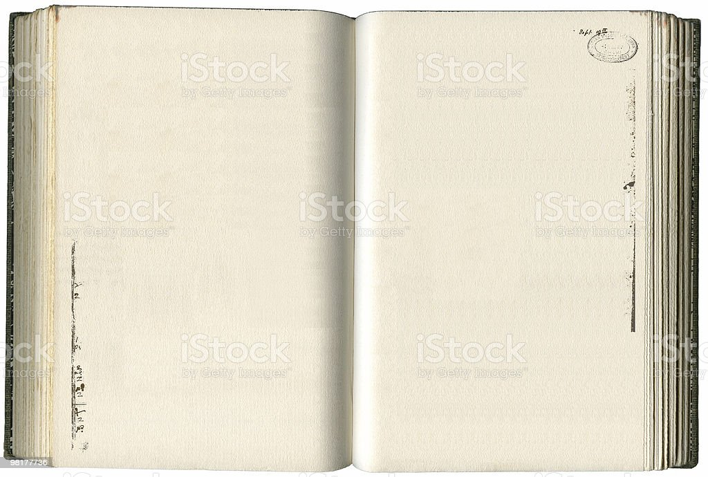 blank old book royalty-free stock photo