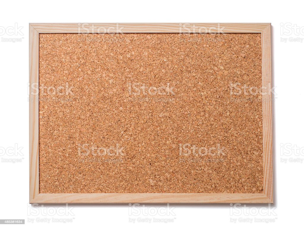 Blank old corkboard stock photo
