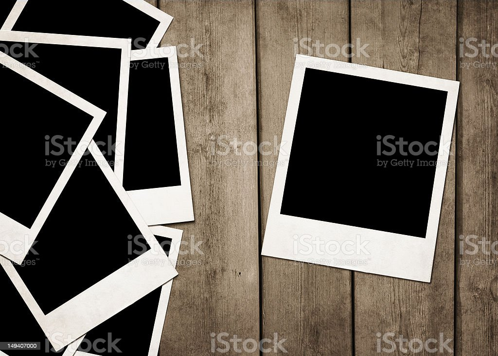 Blank old instant photos royalty-free stock photo