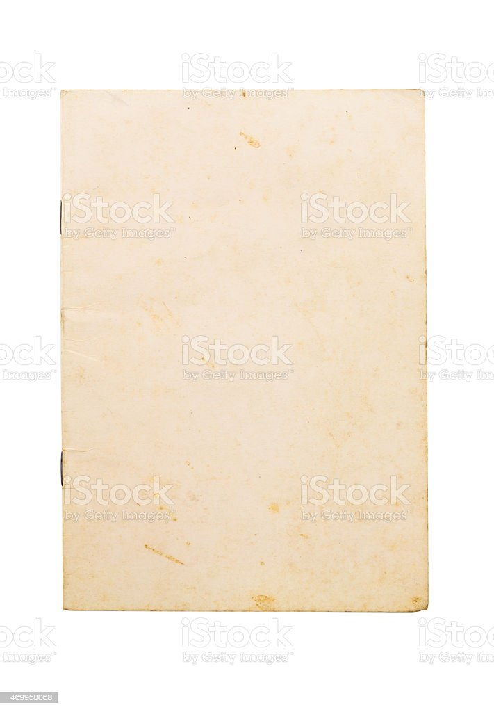 Blank old note book cover stock photo