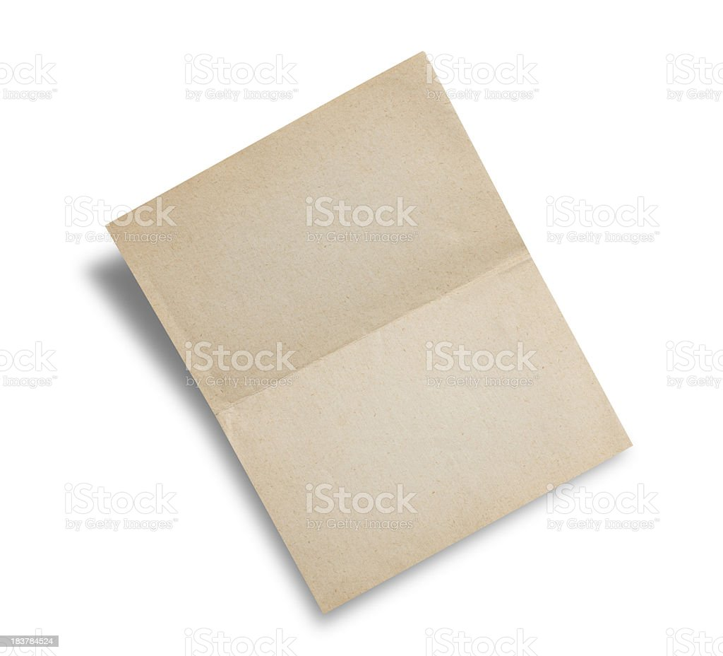 Blank Old Note royalty-free stock photo