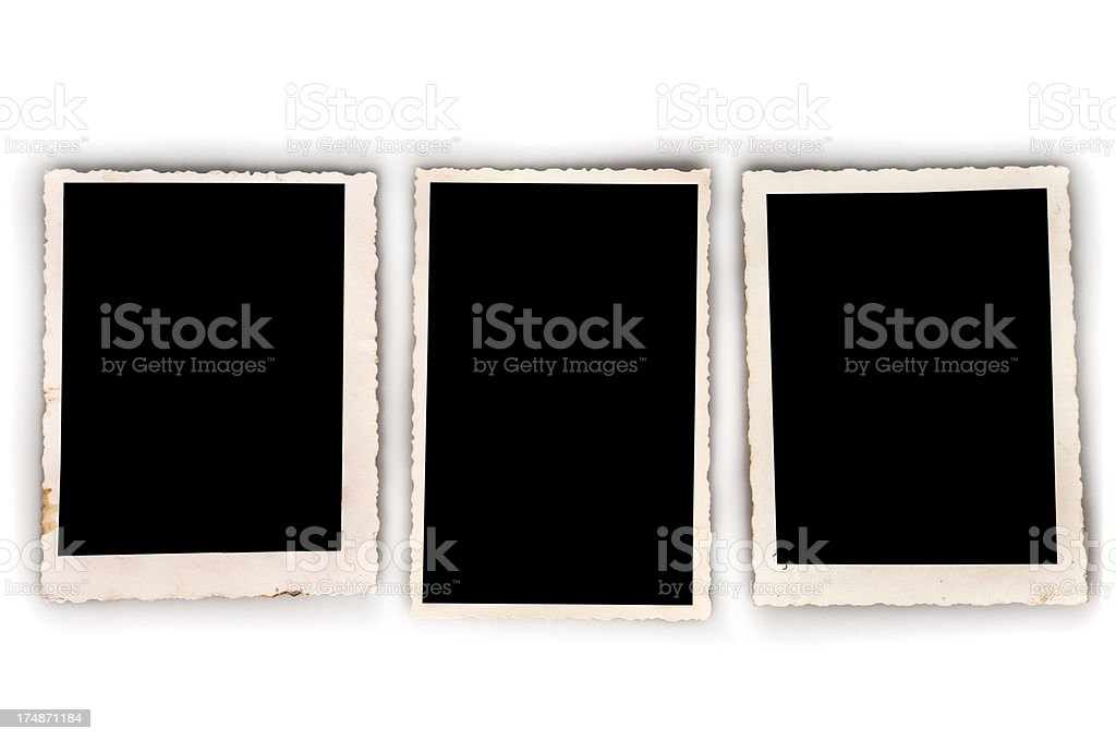 Blank old photo frames royalty-free stock photo