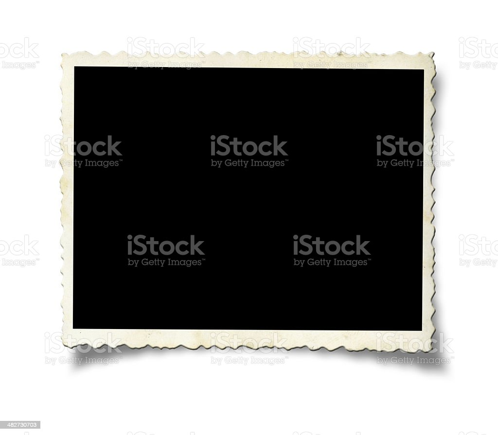 Blank old photo paper stock photo