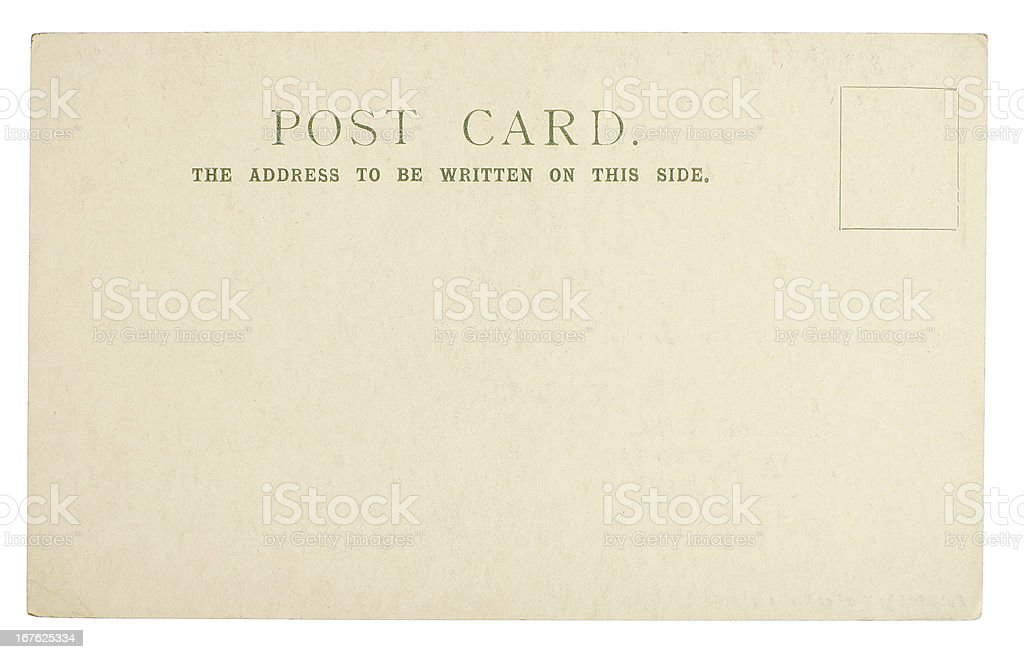 Blank Old Postcard royalty-free stock photo