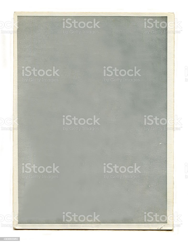 Blank Old Retro Photo stock photo
