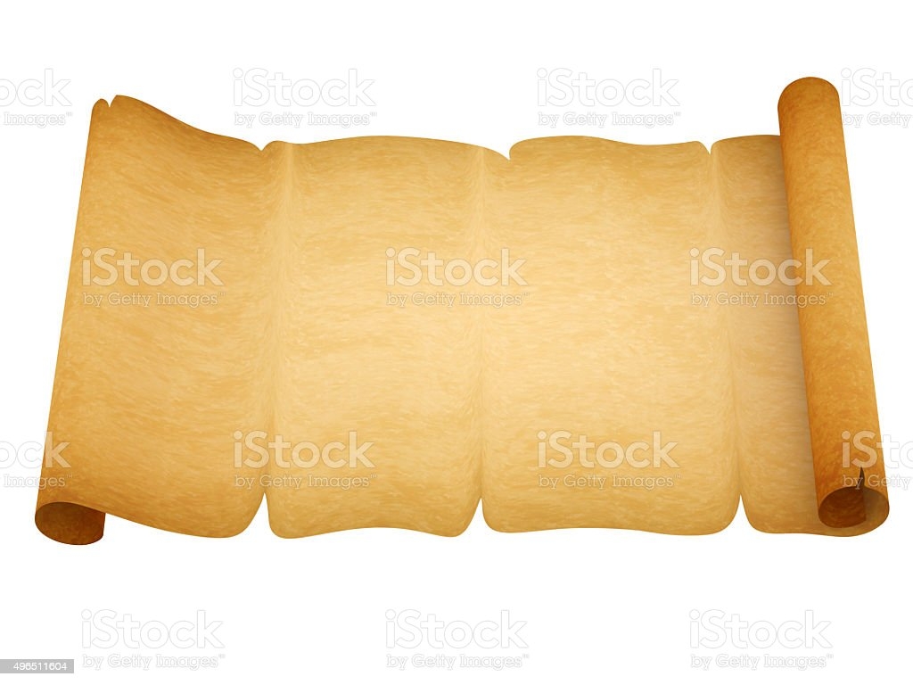 Blank old style sheet of paper with uneven edges stock photo