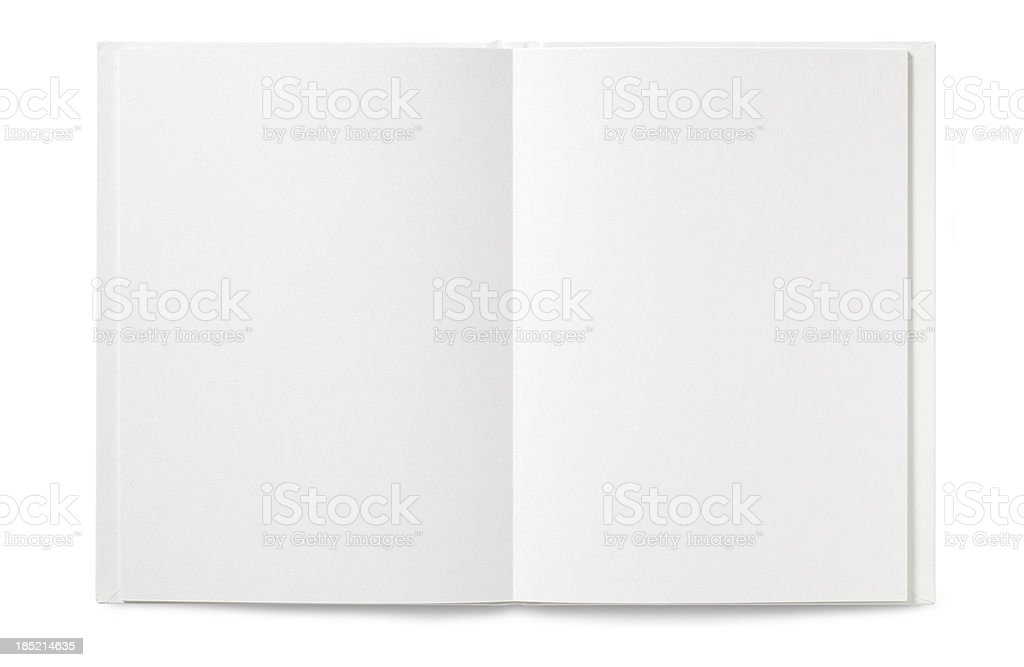 Blank open Book stock photo