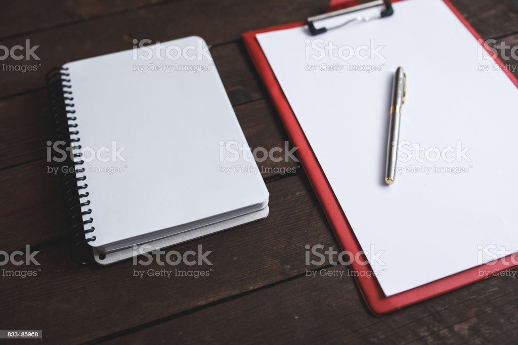 Blank open book stock photo