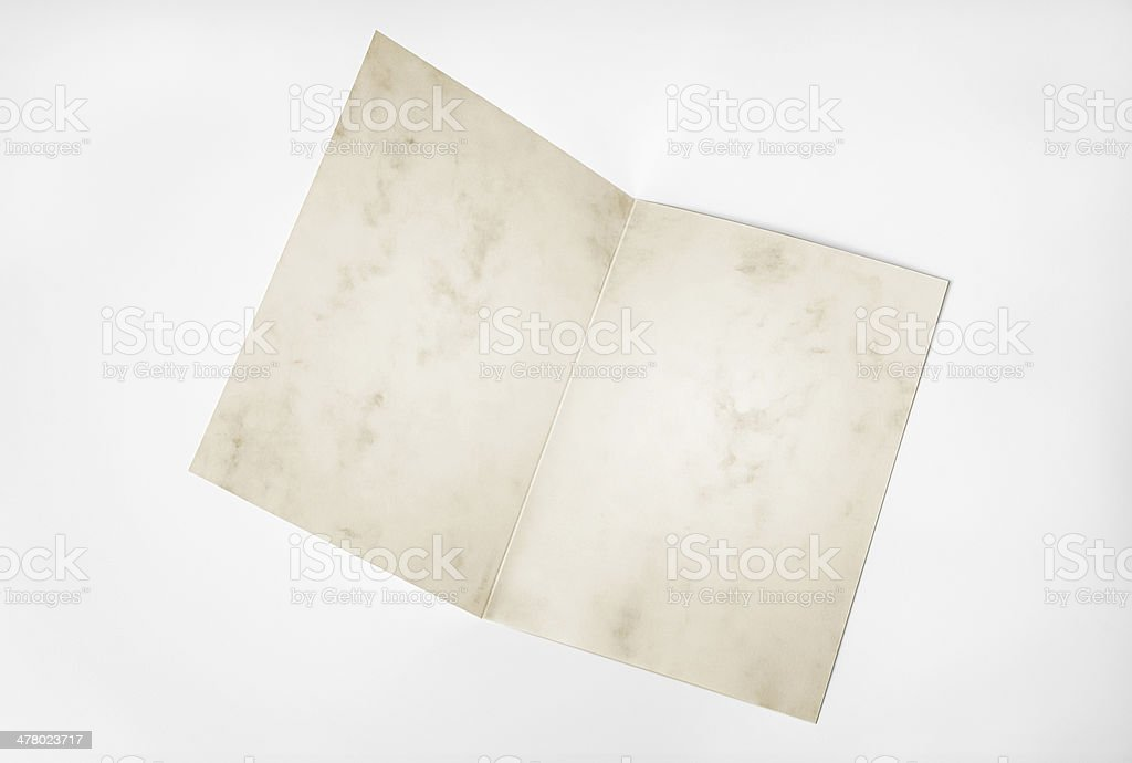 Blank open grunge card royalty-free stock photo