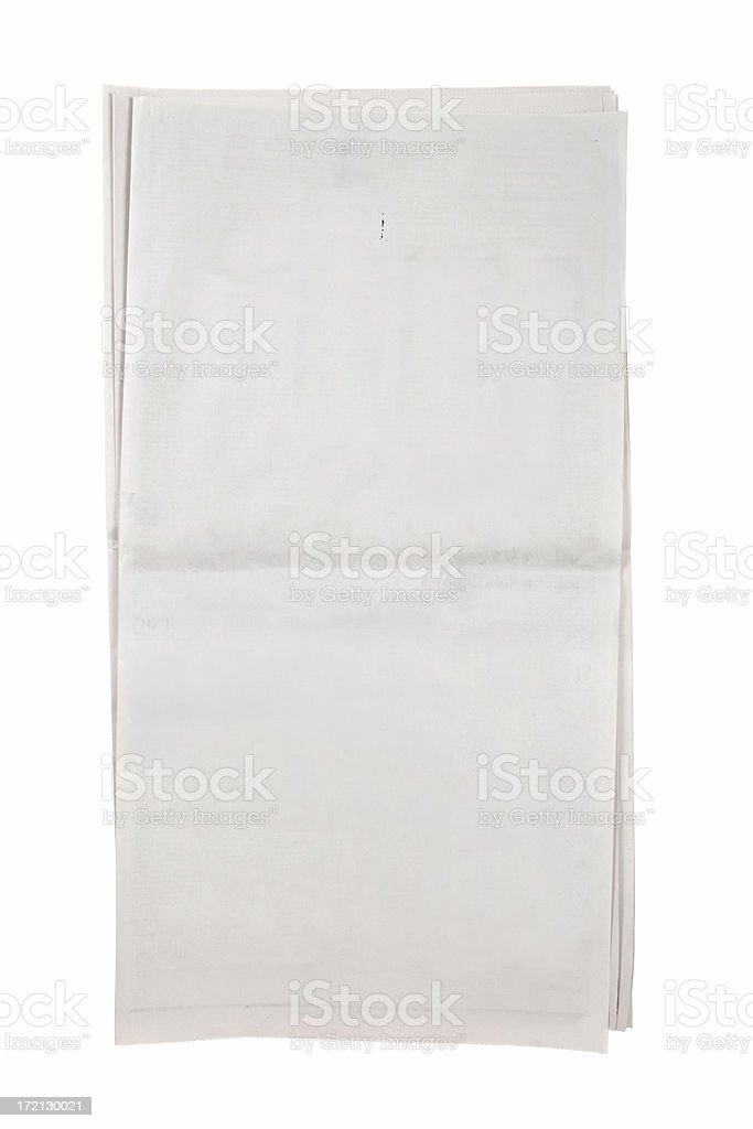 Blank Open Newspaper stock photo
