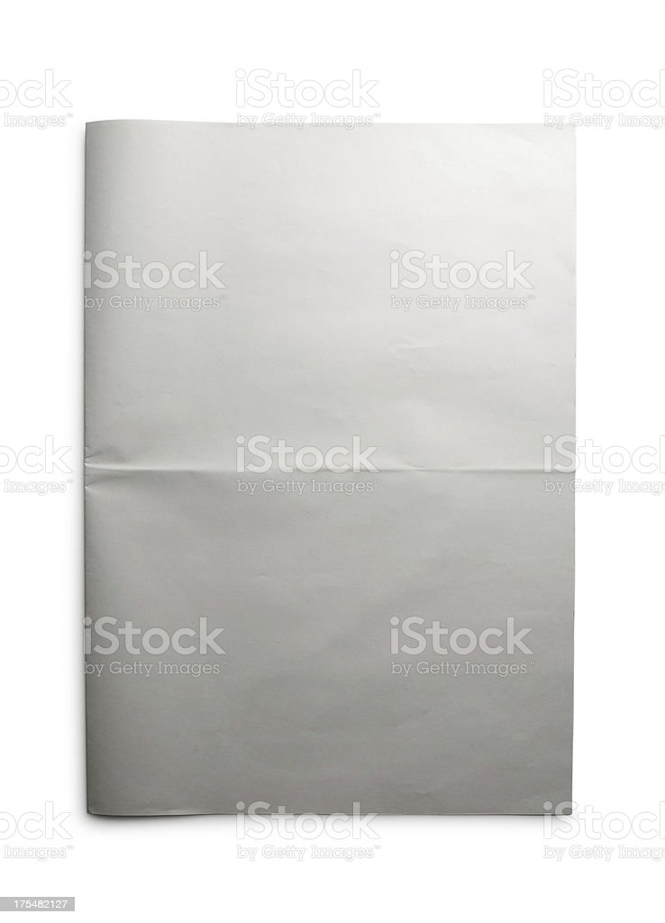 Blank Open Newspaper royalty-free stock photo