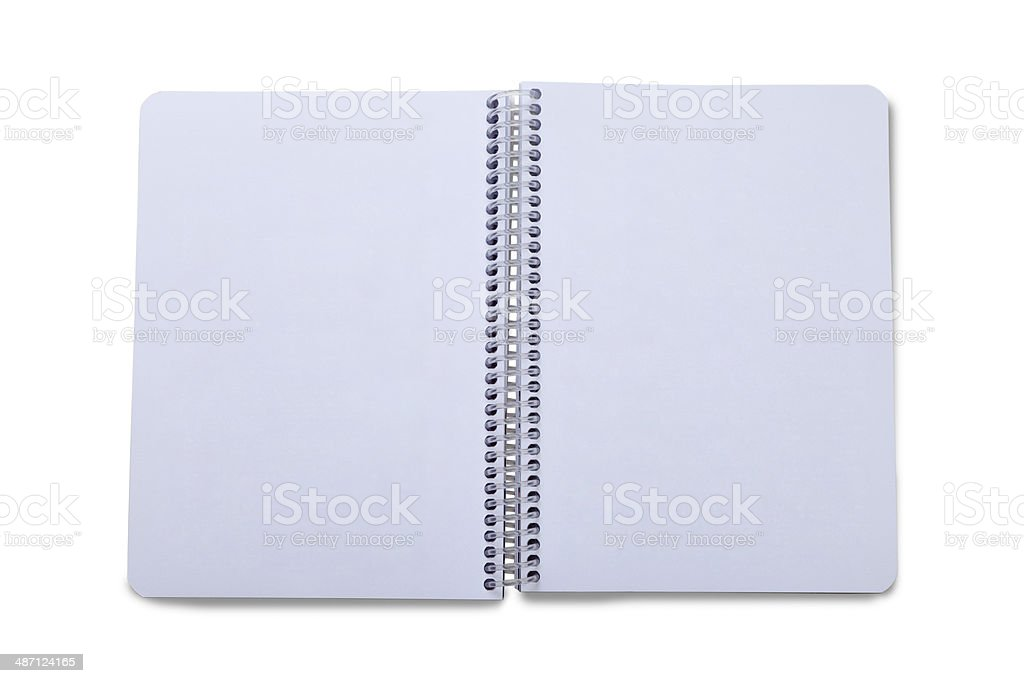 Blank Open  Note Book royalty-free stock photo