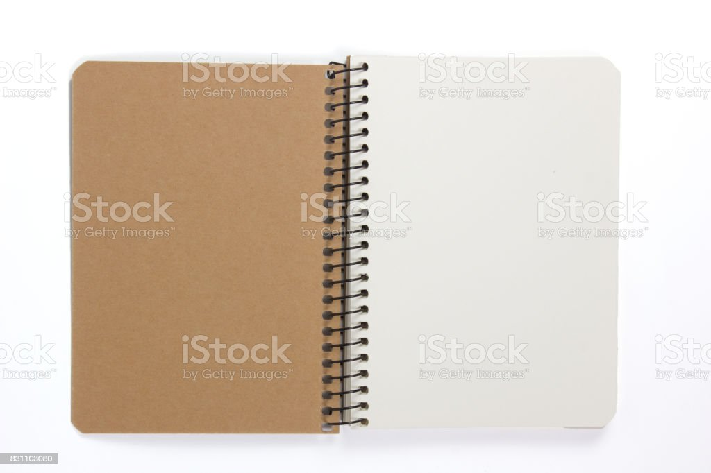 Blank open Notepad isolated stock photo