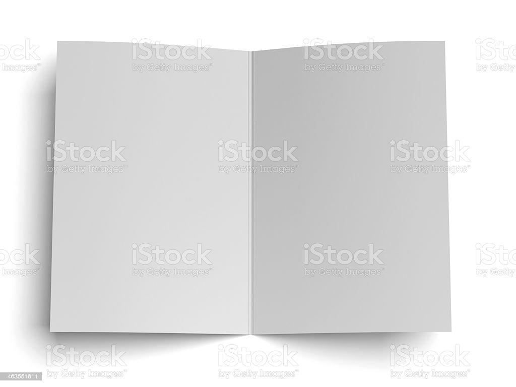 blank opened paper stock photo