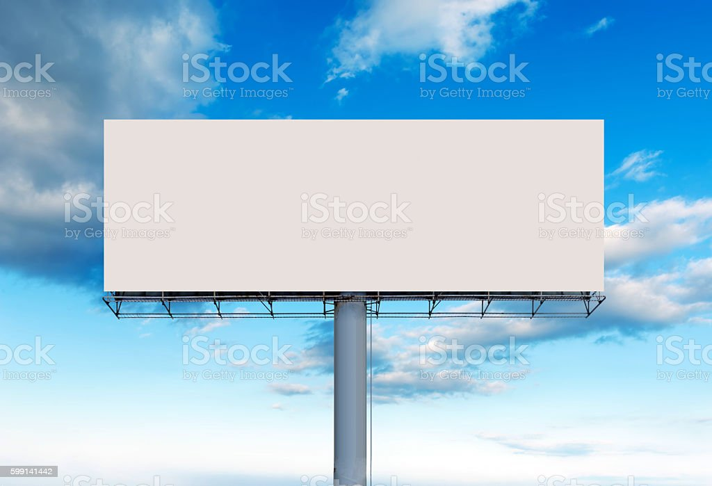 Blank outdoor billboard stock photo