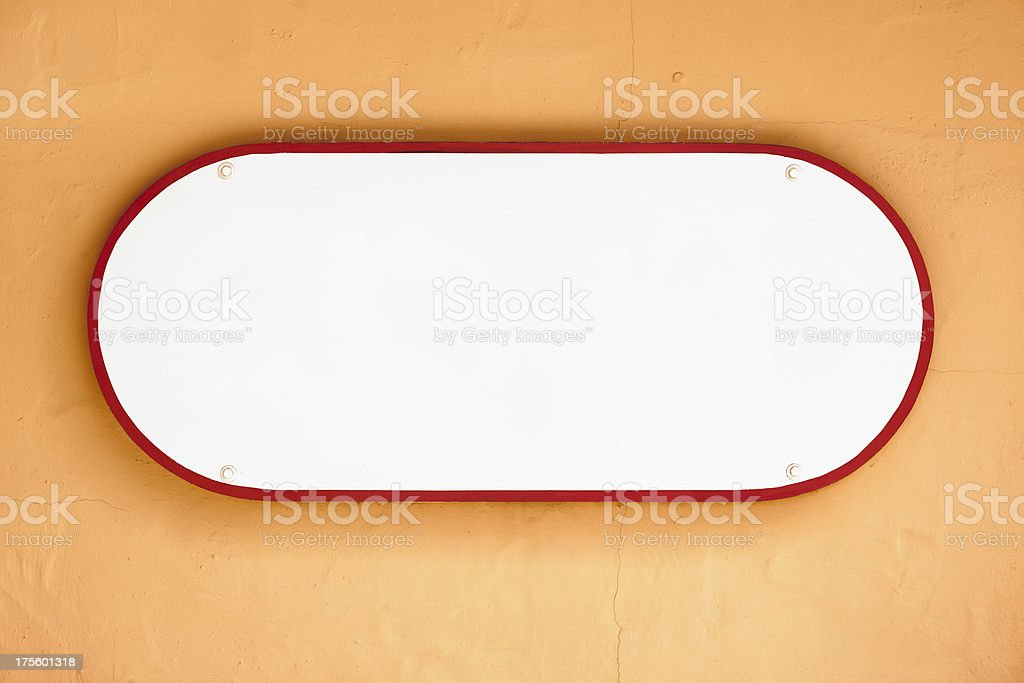 Blank oval shaped sign royalty-free stock photo
