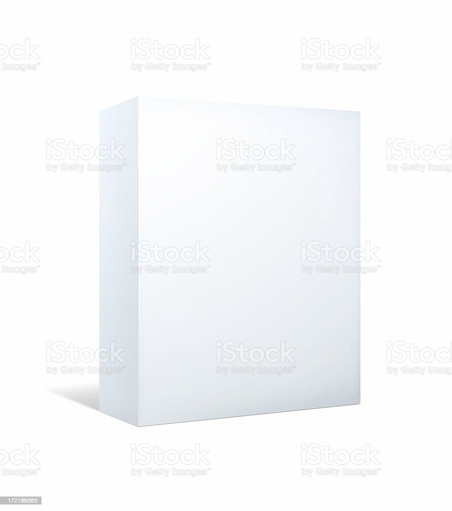 Blank Package II: Bigger With Clipping Paths royalty-free stock photo