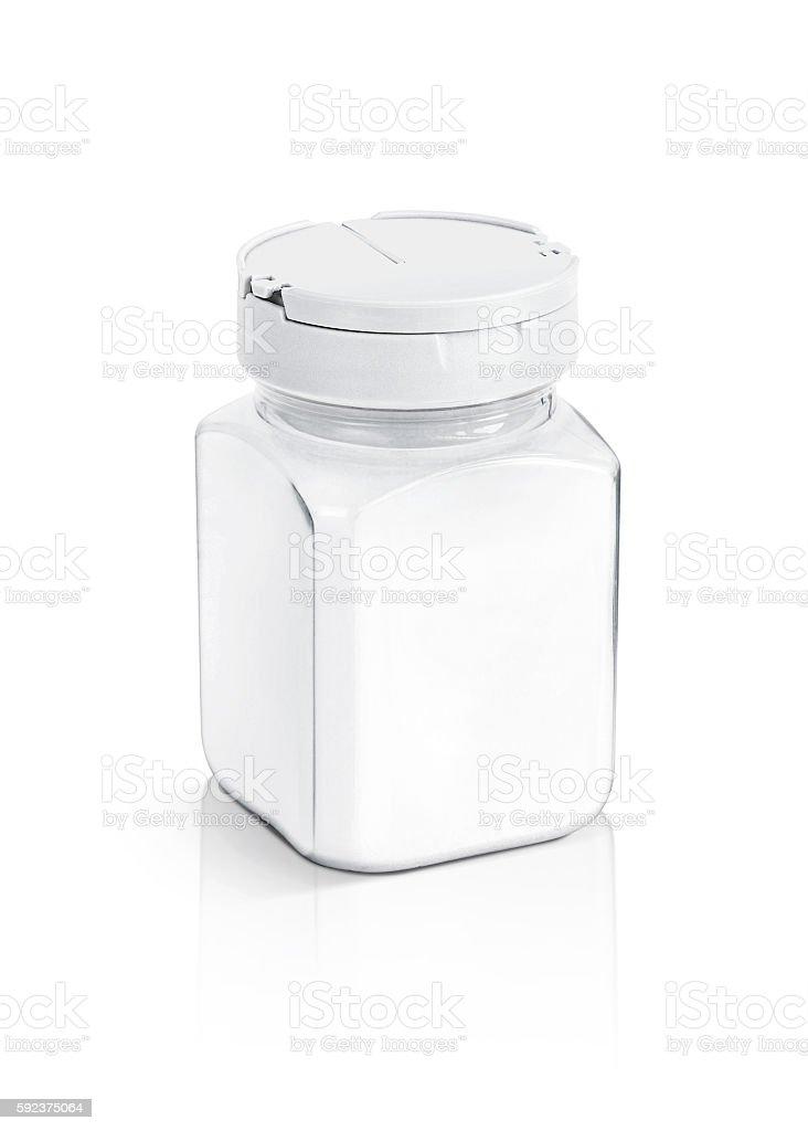 blank packaging salt bottle isolated on white stock photo