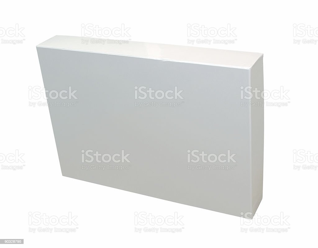 Blank packaging w/ path royalty-free stock photo