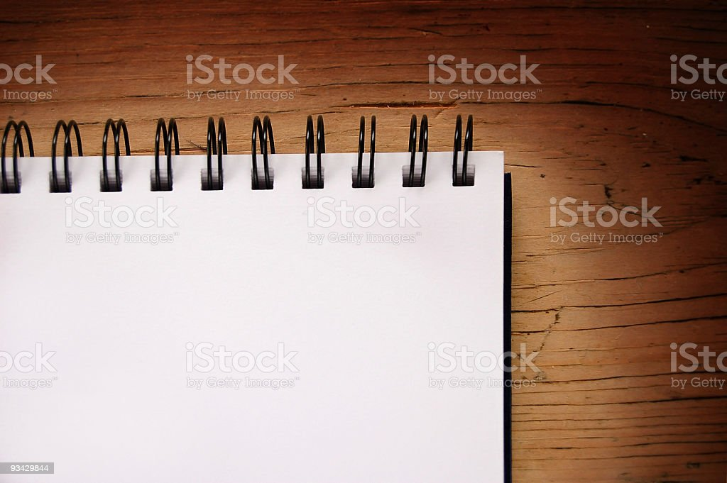 Blank Pad on Table royalty-free stock photo