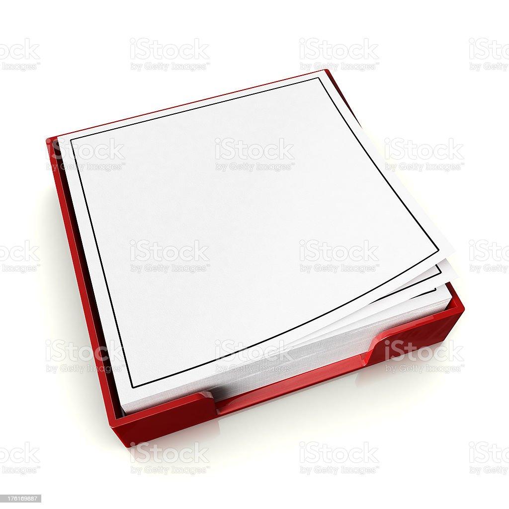 Blank Pad stock photo