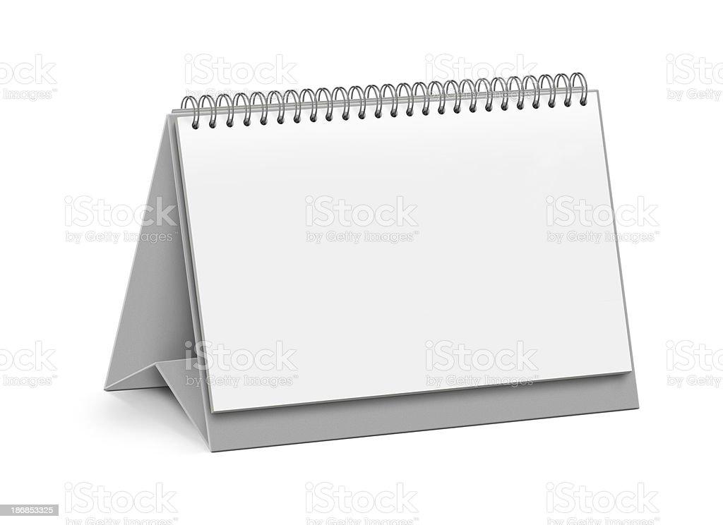 Blank Page Desktop Calendar royalty-free stock photo