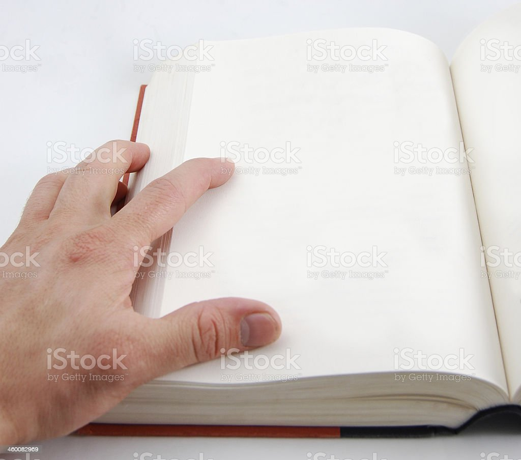 Blank Page in a Book royalty-free stock photo