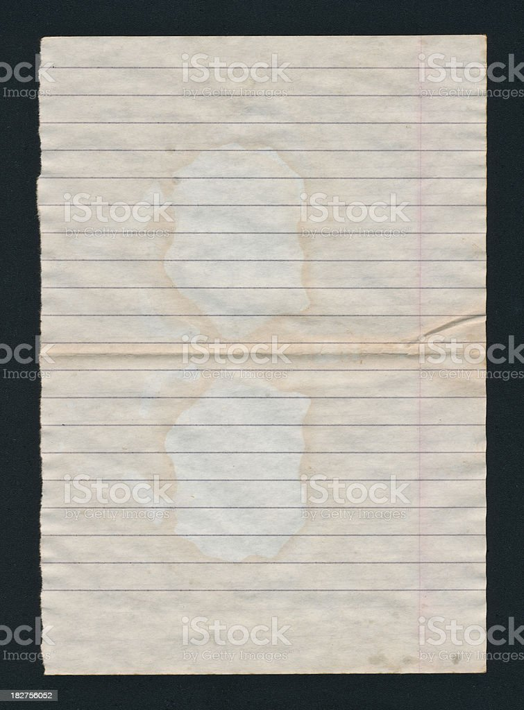 Blank page isolated on black royalty-free stock photo