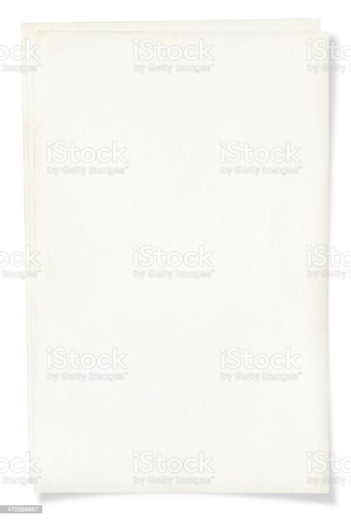 Blank page isolated on white royalty-free stock photo