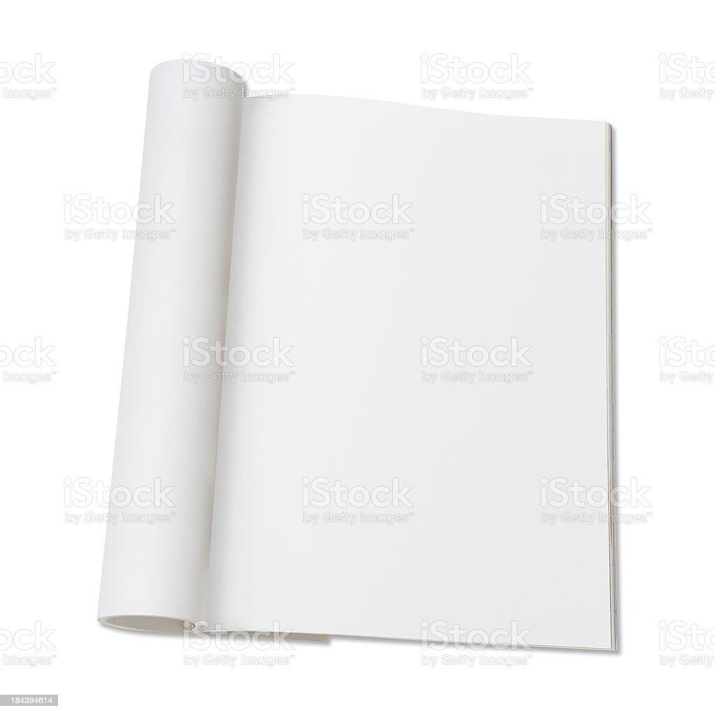 Blank page of magazine stock photo