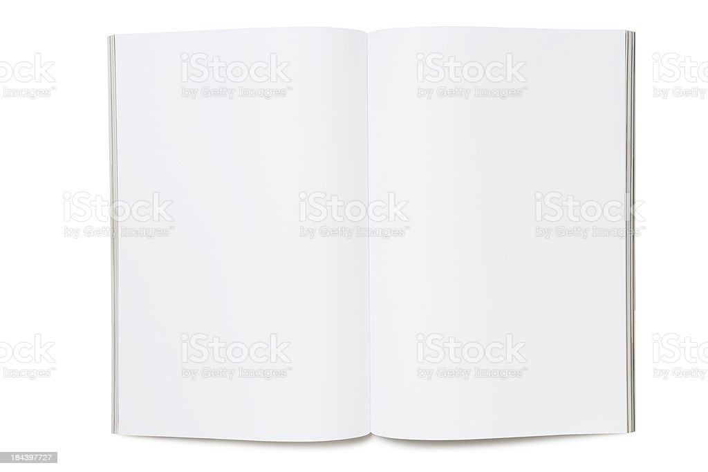 Blank page of magazine royalty-free stock photo