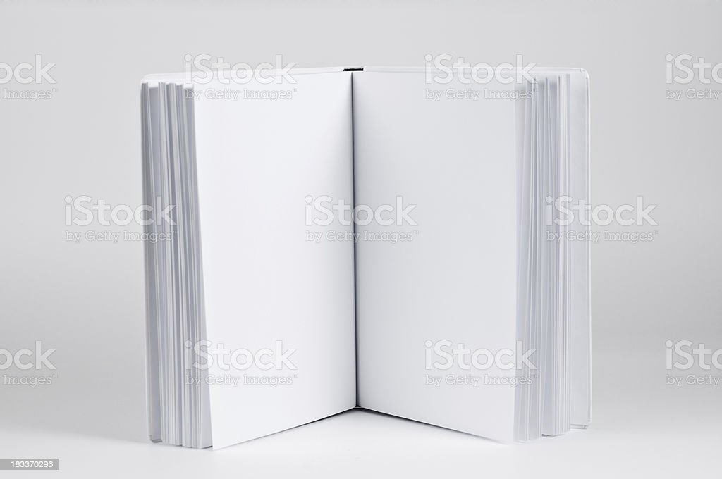 blank pages in a white book royalty-free stock photo