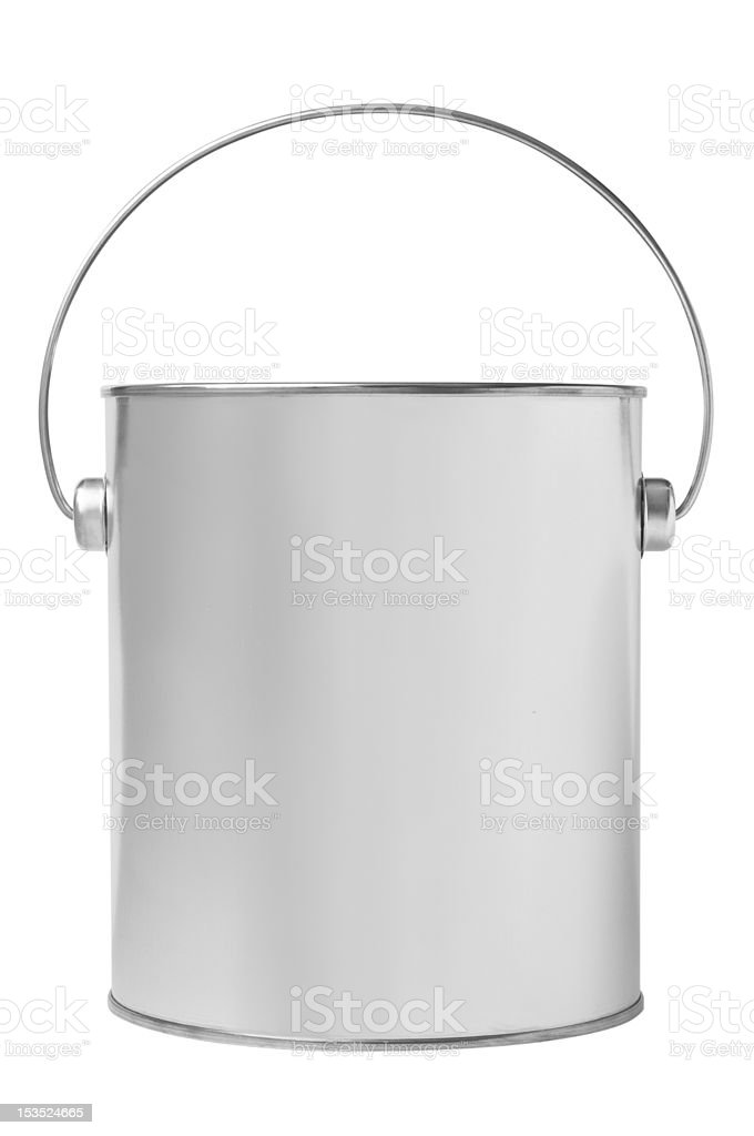Blank paint bucket stock photo