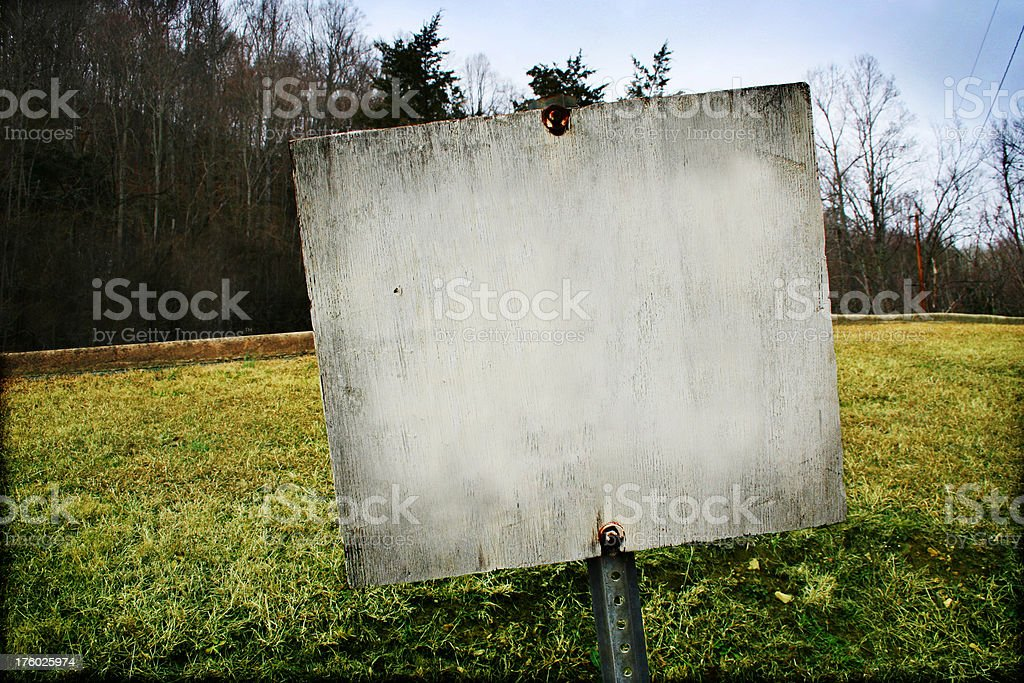 Blank Painted Sign royalty-free stock photo