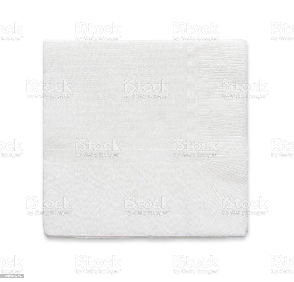 Blank papaer napkin stock photo