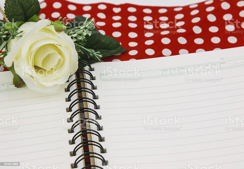 Blank paper and rose royalty-free stock photo